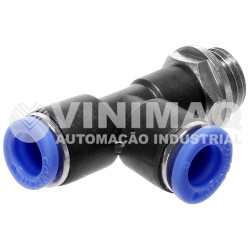 Tee união 08mm rosca lateral 1/8 bsp